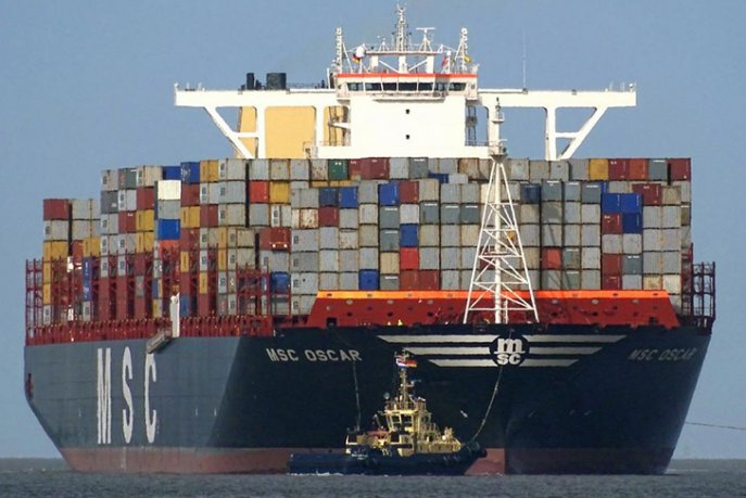 Actualit conomie - Le plus gros porte conteneur ...